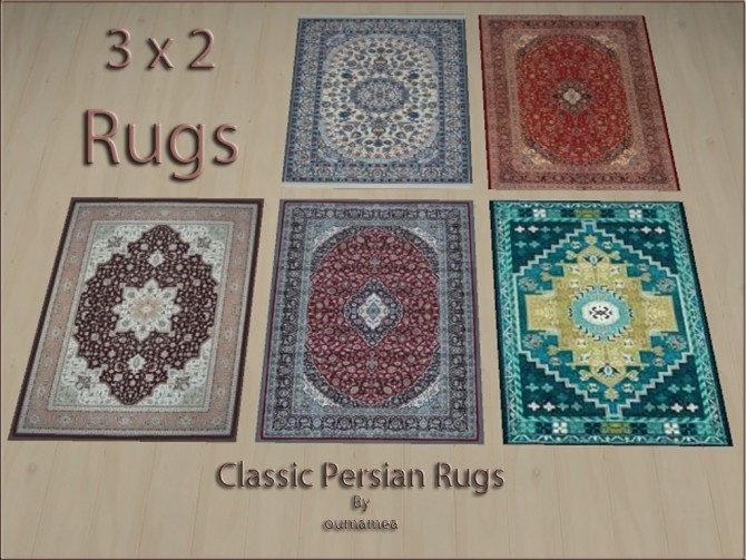 Classic Persian Rugs 3x2 by oumamea at Mod The Sims image 4716 670x503 Sims 4 Updates