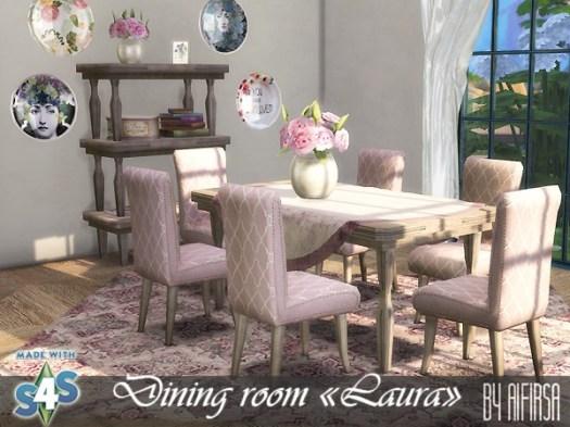 Laura dining room at Aifirsa image 481 Sims 4 Updates