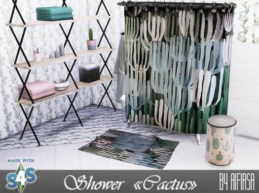 Cactus shower and decor at Aifirsa image 4812 Sims 4 Updates