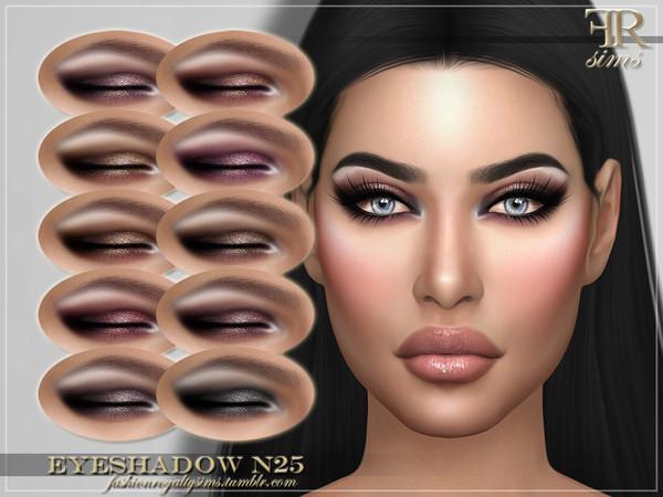 Sims 4 FRS Eyeshadow N25 by FashionRoyaltySims at TSR