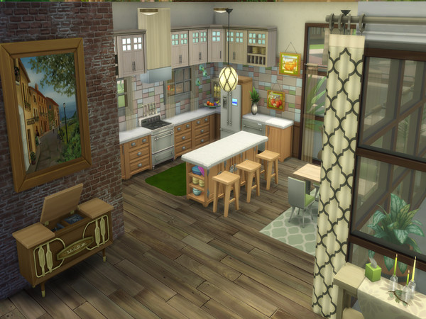 Sims 4 Mid Century Oasis by LJaneP6 at TSR