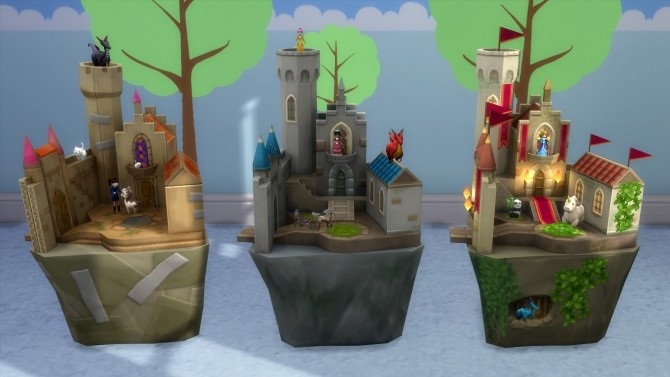 Sims 4 Castle Playsets by K9DB at Mod The Sims