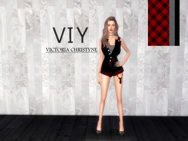 Sims 4 Overalls Viy1 by Viy Sims at TSR