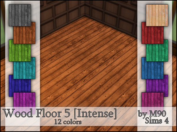 Sims 4 M90 Wood Floor 5 Intense by Mircia90 at TSR