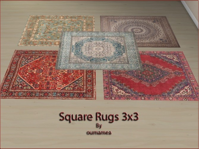 Square rugs 3x3 by oumamea at Mod The Sims image 5119 670x503 Sims 4 Updates