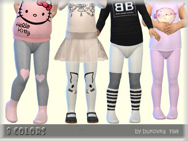 Sims 4 Tights Toddler by bukovka at TSR