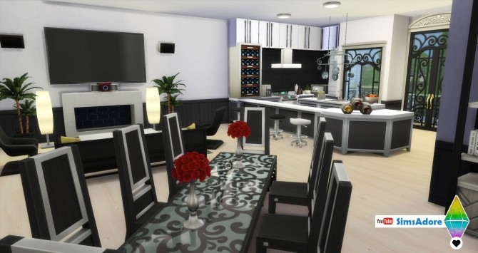 Sims 4 Modern Royal Mansion with indoor pool by bradybrad7 at Mod The Sims