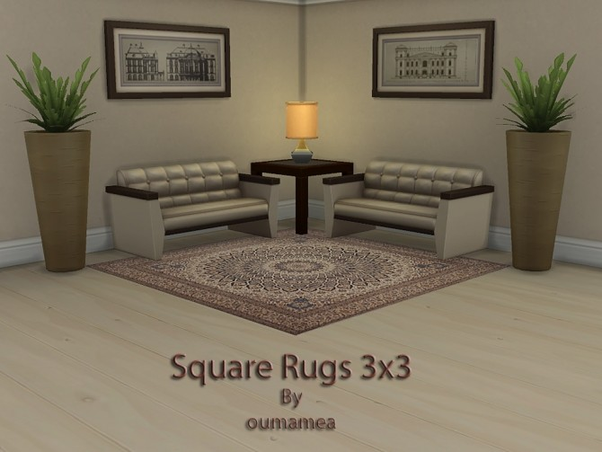 Square rugs 3x3 by oumamea at Mod The Sims image 5217 670x503 Sims 4 Updates
