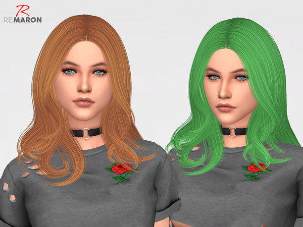 Sims 4 Trouble Hair Retexture by remaron at TSR