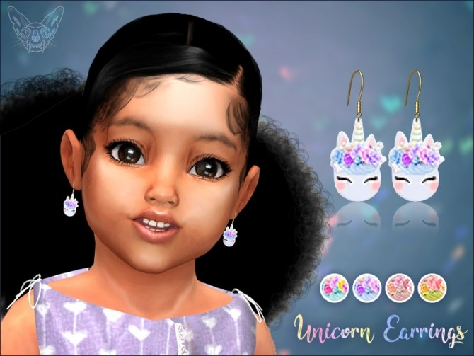 Sims 4 Unicorn Earrings For Toddlers at Giulietta