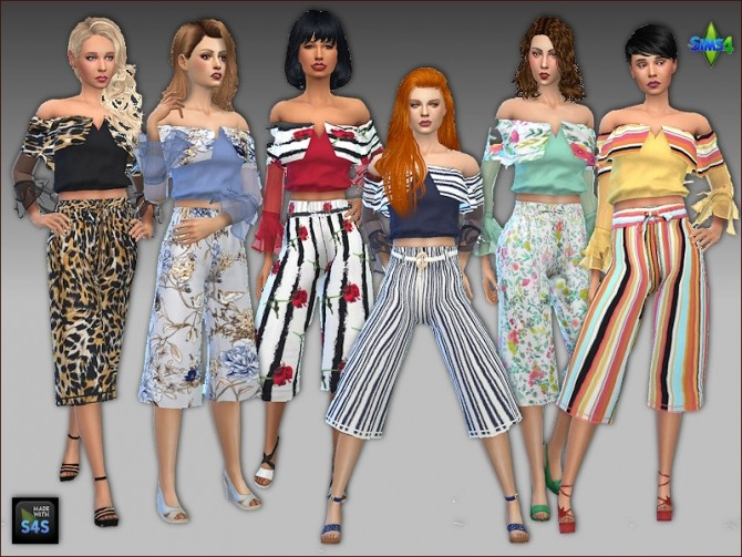 Culottes and blouses by Mabra at Arte Della Vita image 5312 670x503 Sims 4 Updates