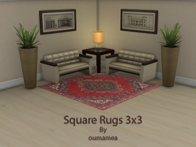Square rugs 3x3 by oumamea at Mod The Sims image 5315 670x503 Sims 4 Updates