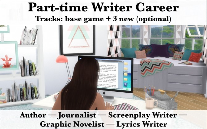 Part Time Writer Career New Branches By Arialyx At Mod The Sims Sims 4 Updates
