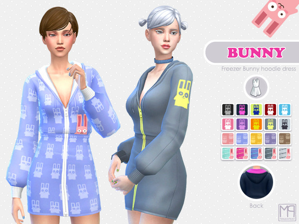 Sims 4 ManueaPinny Bunny outfit by nueajaa at TSR