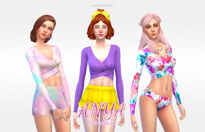 Sims 4 ANYA Swimsuits set at manuea Pinny