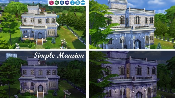 Simple Mansion no CC at Tatyana Name image 539 670x377 Sims 4 Updates