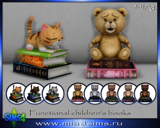 Sims 4 Functional childrens books at Mia8Sims