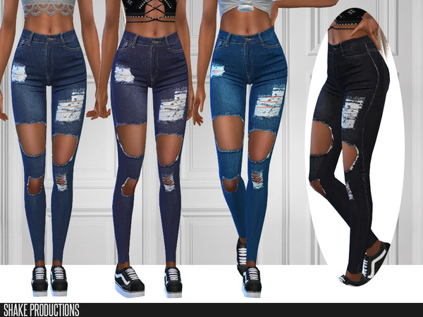 Sims 4 284 Jeans by ShakeProductions at TSR