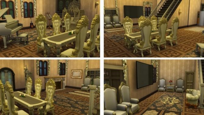 Sims 4 Simple Mansion no CC at Tatyana Name