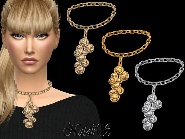 Sims 4 Coin chain necklace by NataliS at TSR