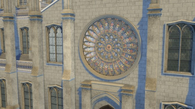 Sims 4 Gothic Rose Window by TheJim07 at Mod The Sims
