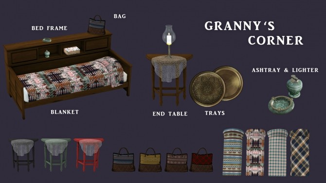 Sims 4 Granny's Corner set (P) at Leo Sims