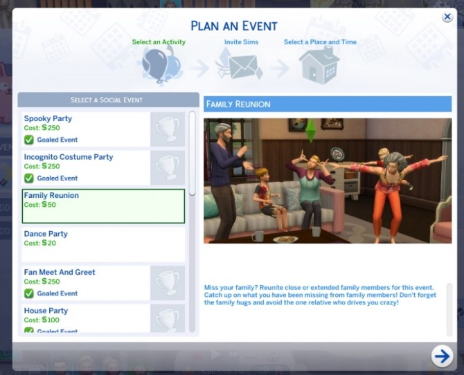 Sims 4 Family Reunion Event by Sims Lover at Mod The Sims