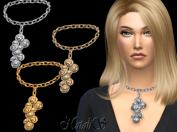 Coin chain necklace by NataliS at TSR image 6017 Sims 4 Updates