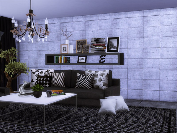 Sims 4 CONCERT wall by marychabb at TSR