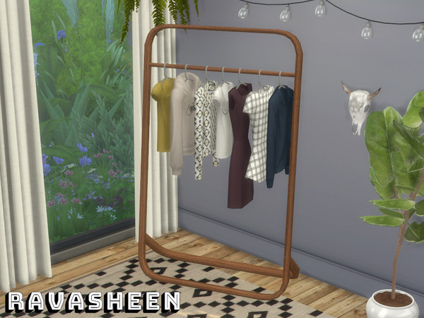 Dont Be Clothes Minded Clothing Rack by RAVASHEEN at TSR image 6106 Sims 4 Updates