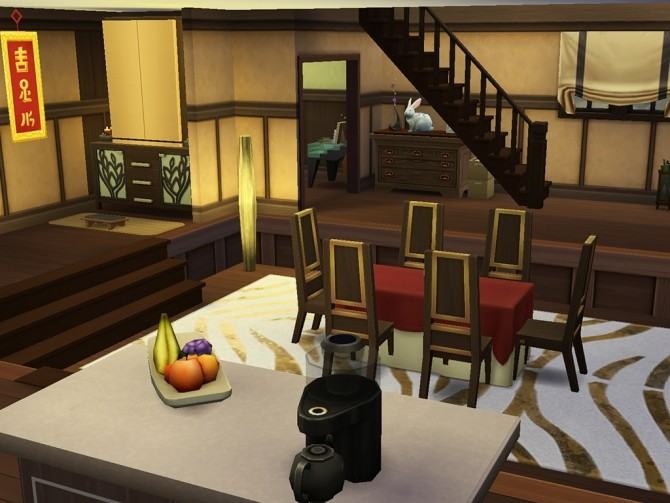 Sims 4 Japanese Style House by J Mity at Mod The Sims