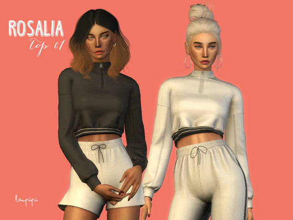 Sims 4 Rosalia Top 1 by laupipi at TSR