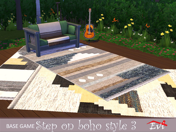 Step on Boho Style rugs by evi at TSR image 622 Sims 4 Updates