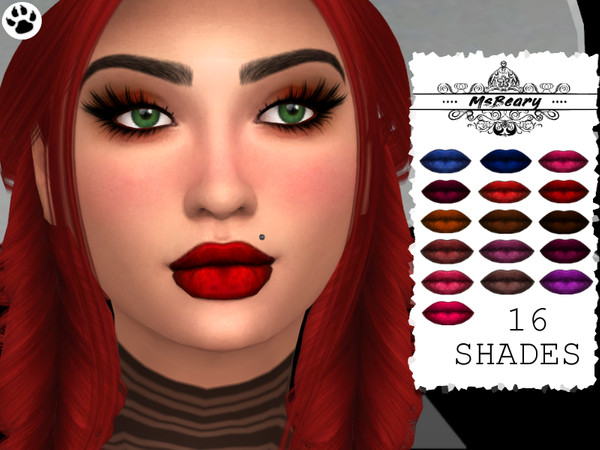 Sims 4 Luscious Lipstick by MsBeary at TSR