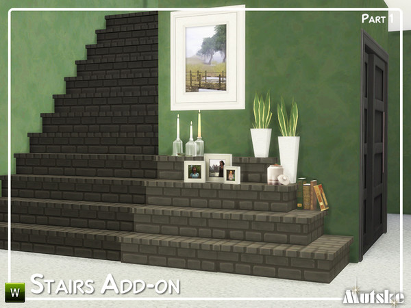 Sims 4 Stairs Add on Part 1 by mutske at TSR