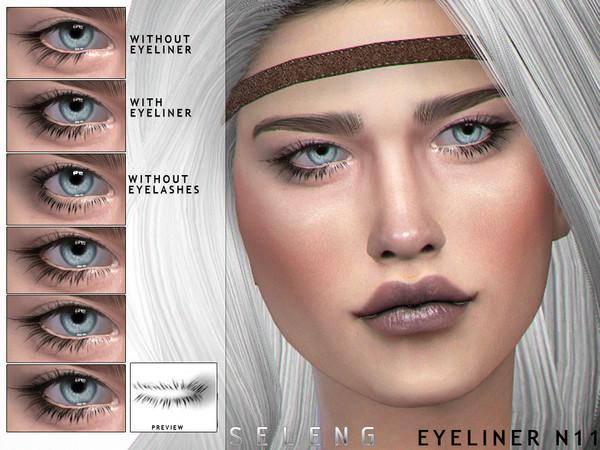 Sims 4 Eyeliner N11 by Seleng at TSR