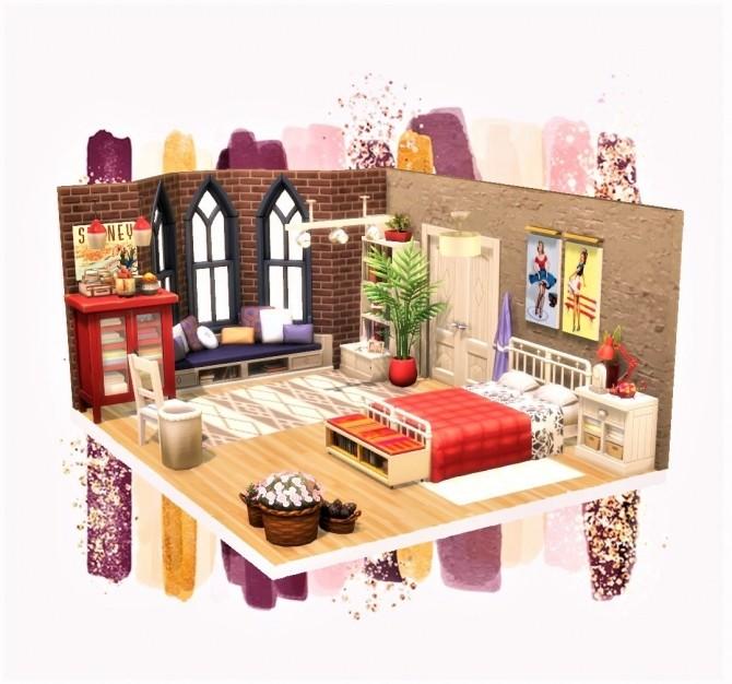 Warm Comfy Bedroom at Agathea k image 6320 670x626 Sims 4 Updates