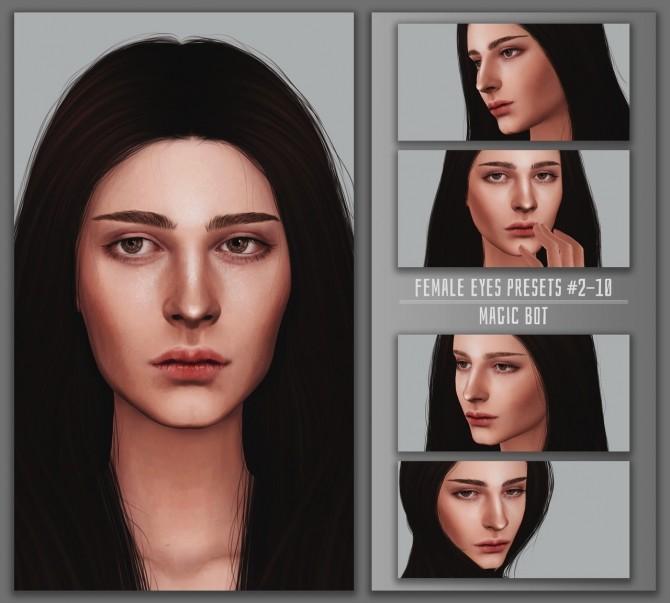 Sims 4 FEMALE EYES PRESETS #2 10 at Magic bot