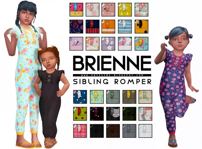 Sims 4 Brienne Sibling Set   Romper at Onyx Sims