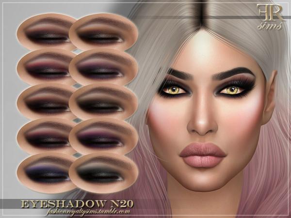 Sims 4 FRS Eyeshadow N20 by FashionRoyaltySims at TSR