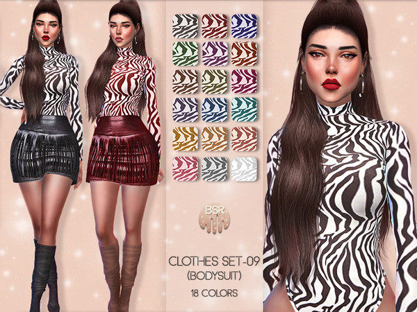 Clothes SET 09 BODYSUIT BD48 by busra tr at TSR image 6711 Sims 4 Updates