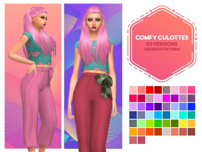 Comfy culottes at Midnightskysims image 679 670x503 Sims 4 Updates