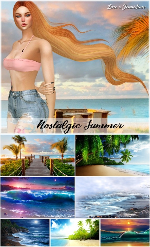 Nostalgic Summer 7 Cas backgrounds at Jenni Sims image 689 608x1000 Sims 4 Updates