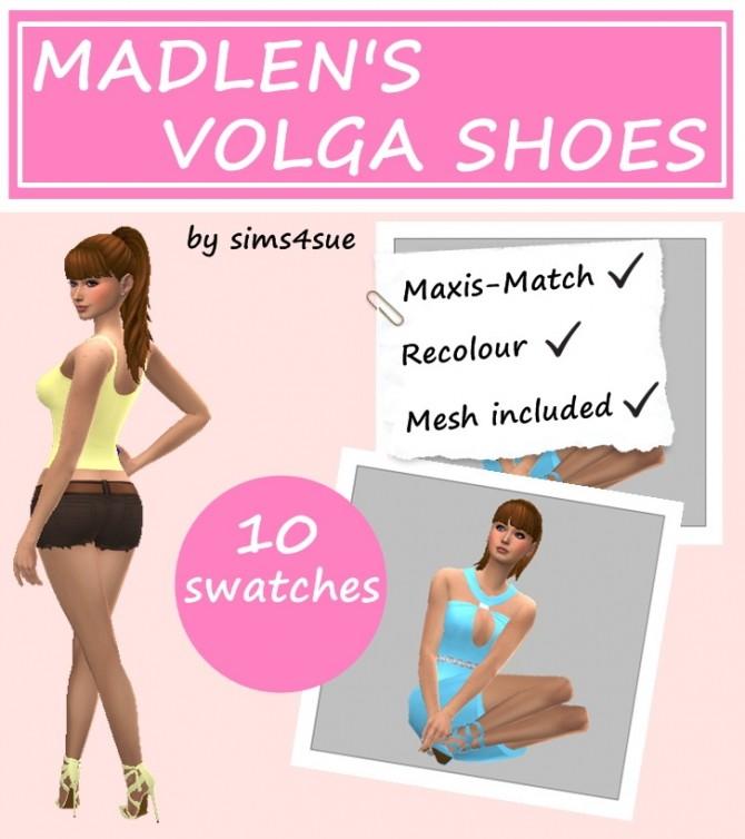 Sims 4 MADLEN'S VOLGA SHOES RECOLOUR at Sims4Sue