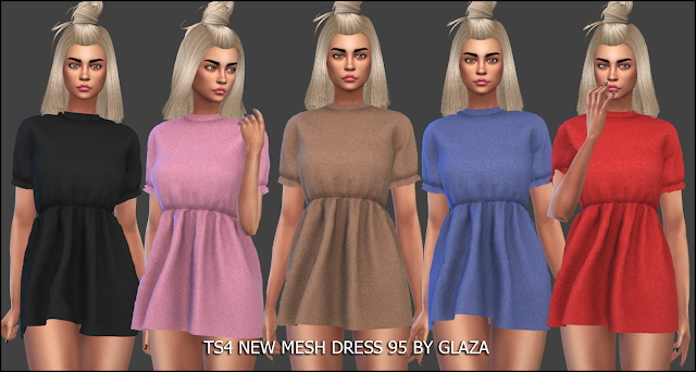 Sims 4 Dress 95 at All by Glaza