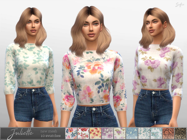 Sims 4 Juliette Sweater by Sifix at TSR