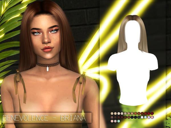 Sims 4 Briana Alpha Hair Edit by Benevolence at TSR