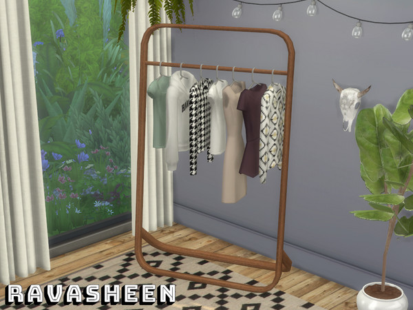 Sims 4 Dont Be Clothes Minded Clothing Rack by RAVASHEEN at TSR