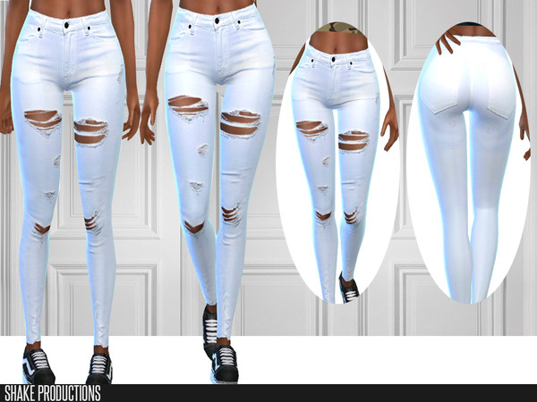 279 White Jeans by ShakeProductions at TSR image 713 Sims 4 Updates
