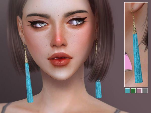 Sims 4 Boho Tassel Earrings by Screaming Mustard at TSR